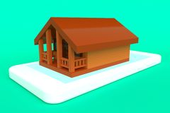 Begreppet av uthyrnings- hus framförande 3d royaltyfri illustrationer
