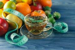 begreppet bantar Låg-kalorin frukt bantar Banta för viktförlust P Fotografering för Bildbyråer