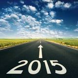 Begreppet - eftersänd till 2015 nya år Royaltyfri Foto