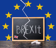 Begreppet för den Brexit UK EU-folkomröstningen klippte Storbritannien frånsett res Royaltyfria Bilder