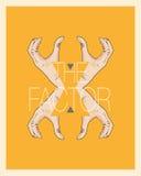 Begreppet för x-faktorhand Royaltyfria Foton