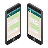 begreppet frambragte digitalt högt samkväm för bildnätverksres blank mall Prata och messaging vektor illustrationer