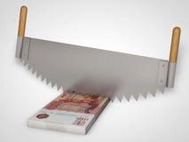 Begreppet - klipp pengar stock illustrationer