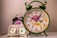 Begreppet tid är pengar Fotografering för Bildbyråer