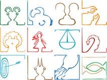 begreppet undertecknar zodiac vektor illustrationer
