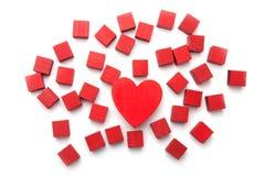 Shapar för förälskelse sammanlagt Arkivbild