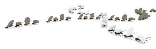 begreppsarbete, lag av myror royaltyfri illustrationer