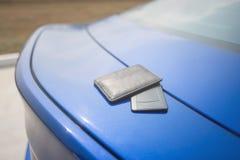 Begreppsbakgrund för auto återförsäljare och hyra Royaltyfria Foton