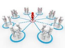 Begreppsbild som föreställer nätverket, nätverkande, anslutning 3d framför vektor illustrationer
