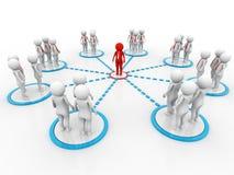 Begreppsbild som föreställer nätverket, nätverkande, anslutning 3d framför Royaltyfri Foto