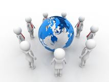 Begreppsbild som föreställer nätverket, nätverkande, anslutning, sociala nätverk, kommunikationer, ledare, ledarskapbegrepp rende royaltyfri illustrationer