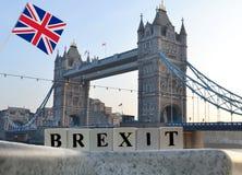 Begreppsbrexit med UK-flaggan Royaltyfri Bild