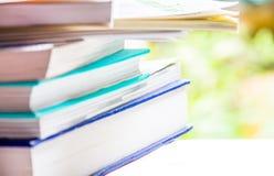 Begreppsbunt av böcker Royaltyfri Fotografi