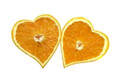 begreppsdaghjärtor älskar den orange s-st-valentinen Fotografering för Bildbyråer