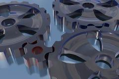 begreppsdrivkraftkugghjulet en andra vänder Royaltyfri Fotografi