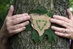begreppsecoen återanvänder sustainability Arkivbild