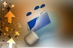 begreppsenergi för bakgrund 3d isolerade framförd sol- white Arkivfoton