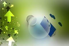 begreppsenergi för bakgrund 3d isolerade framförd sol- white Arkivfoto