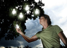 begreppsenergi - sparande Arkivfoton