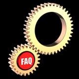 begreppsfaq gears hög res Arkivbild