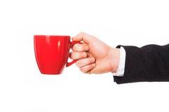 Begreppsfoto av affärskaffeavbrottet Arkivbild