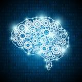 Begreppshjärna för konstgjord intelligens royaltyfri illustrationer