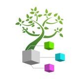 Begreppsillustration: stamträdillustration Arkivfoton