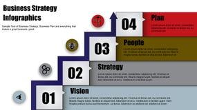 Begreppsillustrationen av lyckad affärsstrategi kliver med pilen Royaltyfri Bild