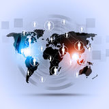 Begreppskommunikationsbakgrund Arkivbilder