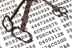 begreppskrypteringtangent Arkivfoto