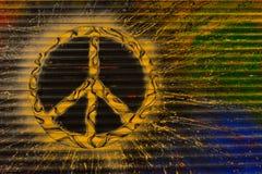 Begreppslagerrullgardiner, symbol av fred arkivfoton