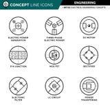 Begreppslinje teknik för symbolsuppsättning 02 Arkivbild