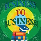 Begreppsmässig affär för handhandstilvisning till affären Stopp för upptaget arbete för businessanalysis för jordning för arbete  stock illustrationer