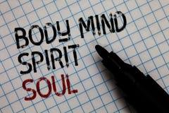 Begreppsmässig anda för ande för mening för kropp för handhandstilvisning Tillstånd för medvetenhet för terapi för jämvikt för af arkivbilder