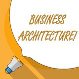 Begreppsmässig arkitektur för affär för handhandstilvisning Affärsfoto som ställer ut den grafiska framställningen av en a royaltyfri illustrationer