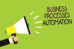 Begreppsmässig automation för processar för affär för handhandstilvisning Ställa ut för affärsfoto som utförs för att uppnå digit Arkivbild