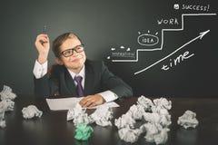 Begreppsmässig bild av affärsplanet för start-up affärsstrategi Royaltyfri Bild