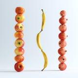 Begreppsmässig bild av frukter Royaltyfri Fotografi
