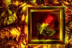 Begreppsmässig bild med den spiral lampan Royaltyfri Bild