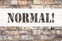 Begreppsmässig det normala för visning för inspiration för meddelandetextöverskrift Affärsidé för för normaltillståndproblem för  Arkivbild