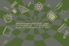 Begreppsmässig effektiv handhandstiluppvisning Ställa ut för affärsfoto som är lyckat i önskat eller påtänkt resultat för produce stock illustrationer