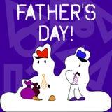 Begreppsmässig fader S Day för handhandstilvisning Dag för affärsfototext av året var fäder hedras bestämt förbi royaltyfri illustrationer