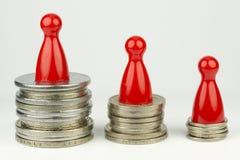 Begreppsmässig finansiell position Arkivfoton