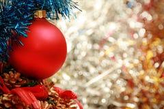 begreppsmässig garnering för jul arkivbild