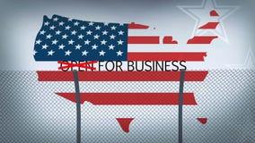 Begreppsmässig gränsanimering för affärsöppning stock illustrationer