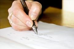 begreppsmässig handbild för överenskommelse arkivfoto
