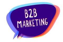 Begreppsmässig handhandstil som visar B2B marknadsföringen Blytaket för sammanslagning för distributionskedja för företag för par royaltyfri illustrationer