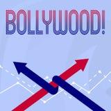Begreppsmässig handhandstil som visar Bollywood Affärsfoto som ställer ut bion för underhållning för Hollywood filmfilm royaltyfri illustrationer