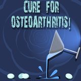 Begreppsmässig handhandstil som visar bot för Osteoarthritis Affärsfotoet som ställer ut behandling för, smärtar och styvhet vektor illustrationer