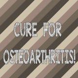 Begreppsmässig handhandstil som visar bot för Osteoarthritis Behandling för affärsfototext för smärtar och styvhet av vektor illustrationer